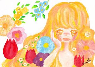 花と少女とkon.jpg